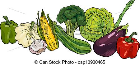 Raw vegetables clipart - Clipground