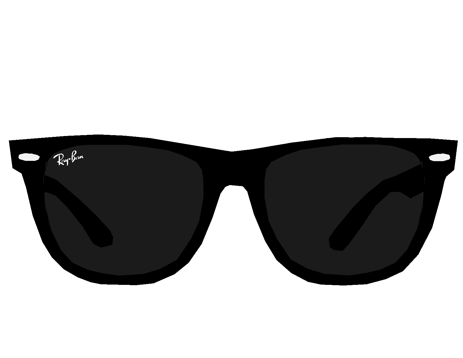 Ray Ban Glasses Clipart.