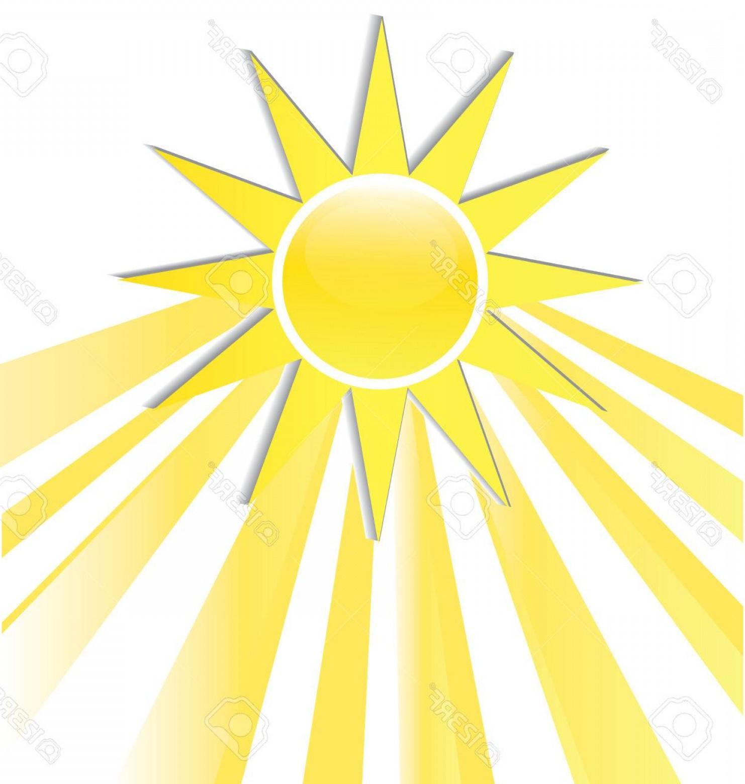 Photostock Vector Sun Rays Icon Logo.