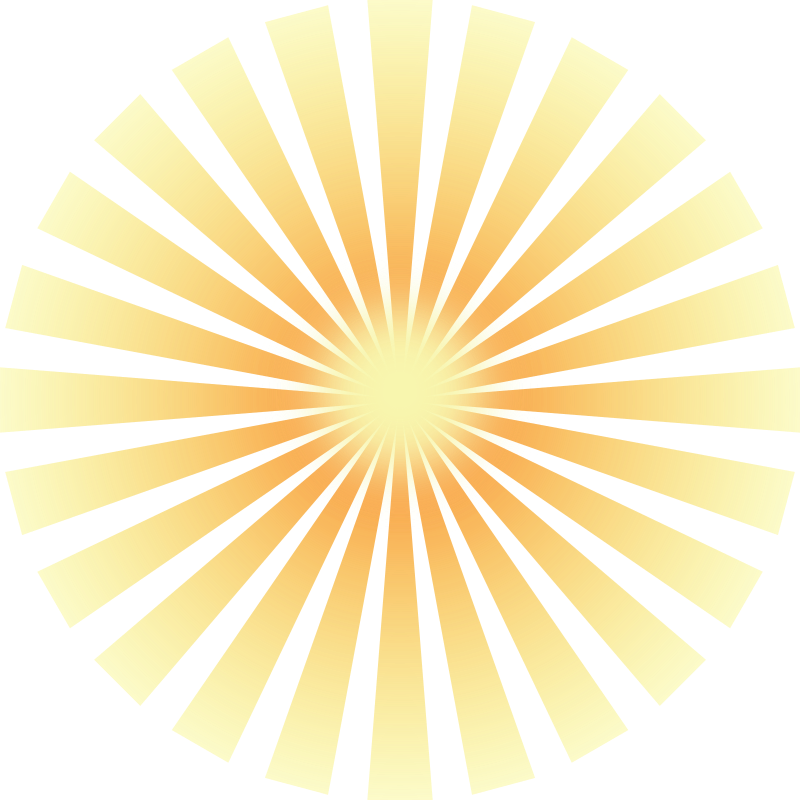 Sun rays clipart png.