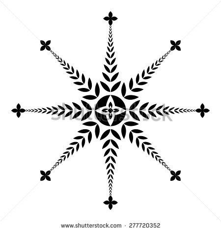Mandala Tattoo Icons Set Geometric Round Stock Vector 411783811.