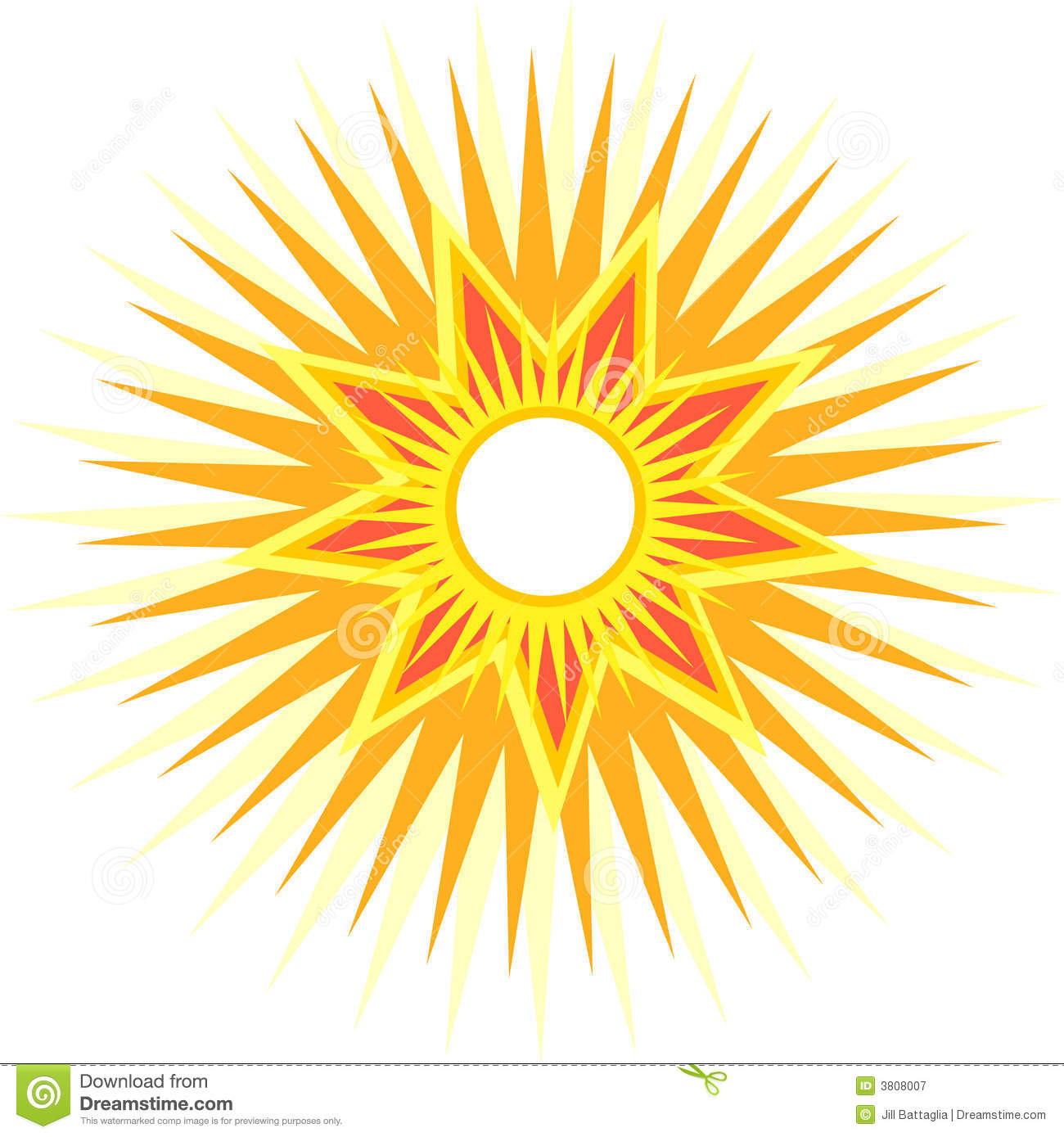 Sun With Multiple Rays Royalty Free Stock Photography.