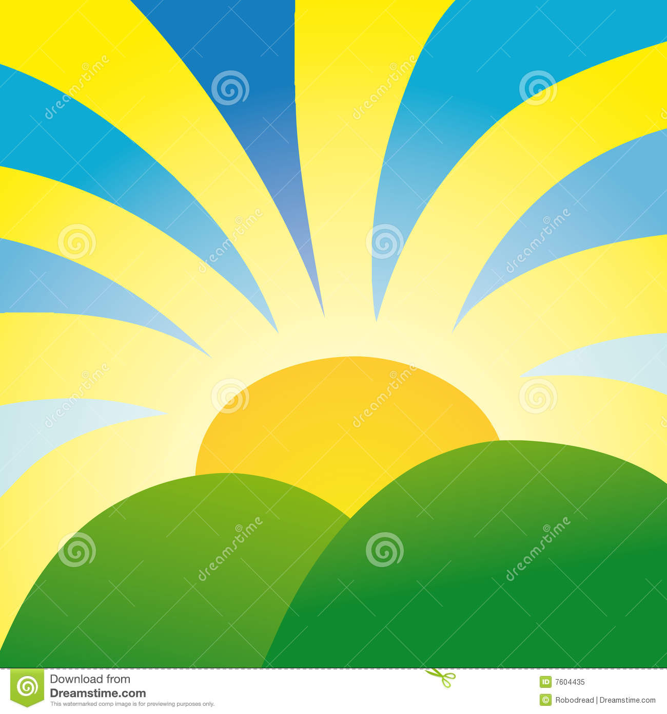 Rays Of Sunshine (vector) Royalty Free Stock Photo.