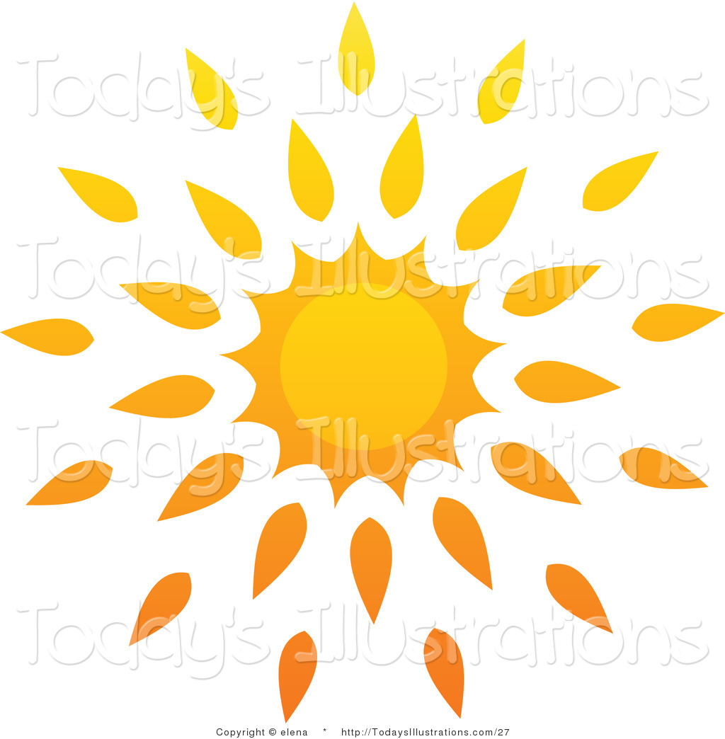 Royalty Free Stock New Designs of Sun Icons.