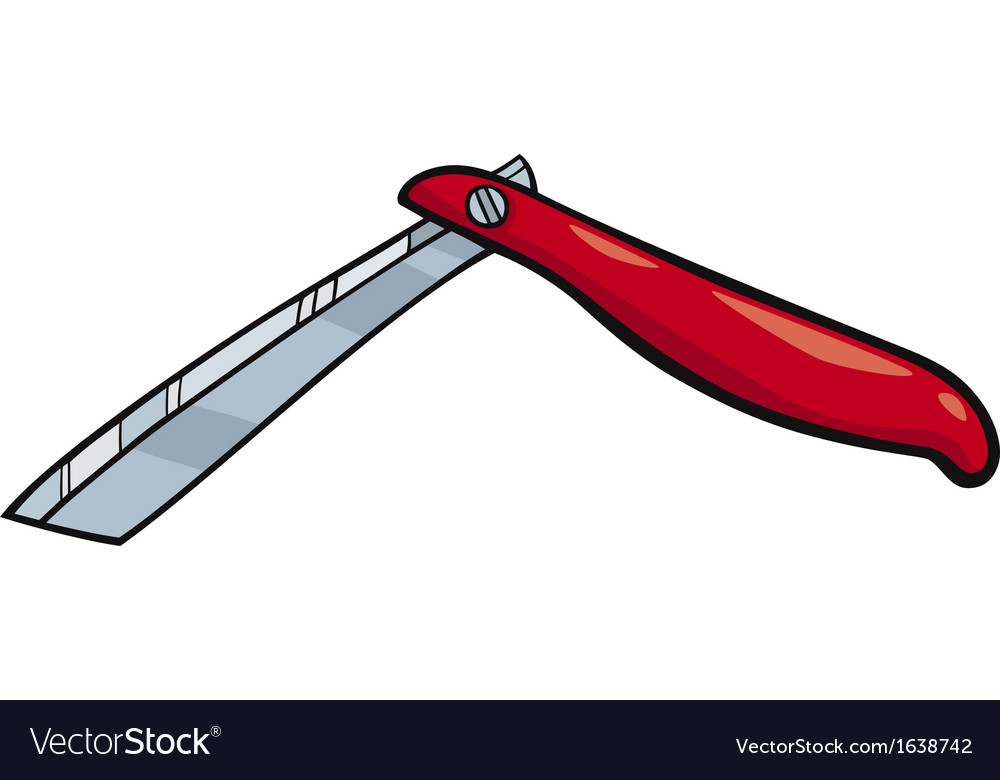 Razor clip art cartoon.