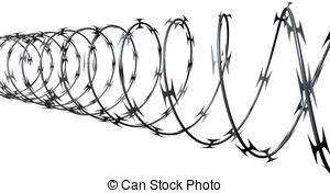 Razor Wire Clipart.