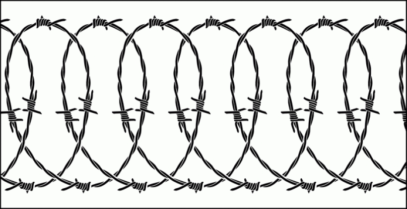 Barbed Wire Heart Clipart.