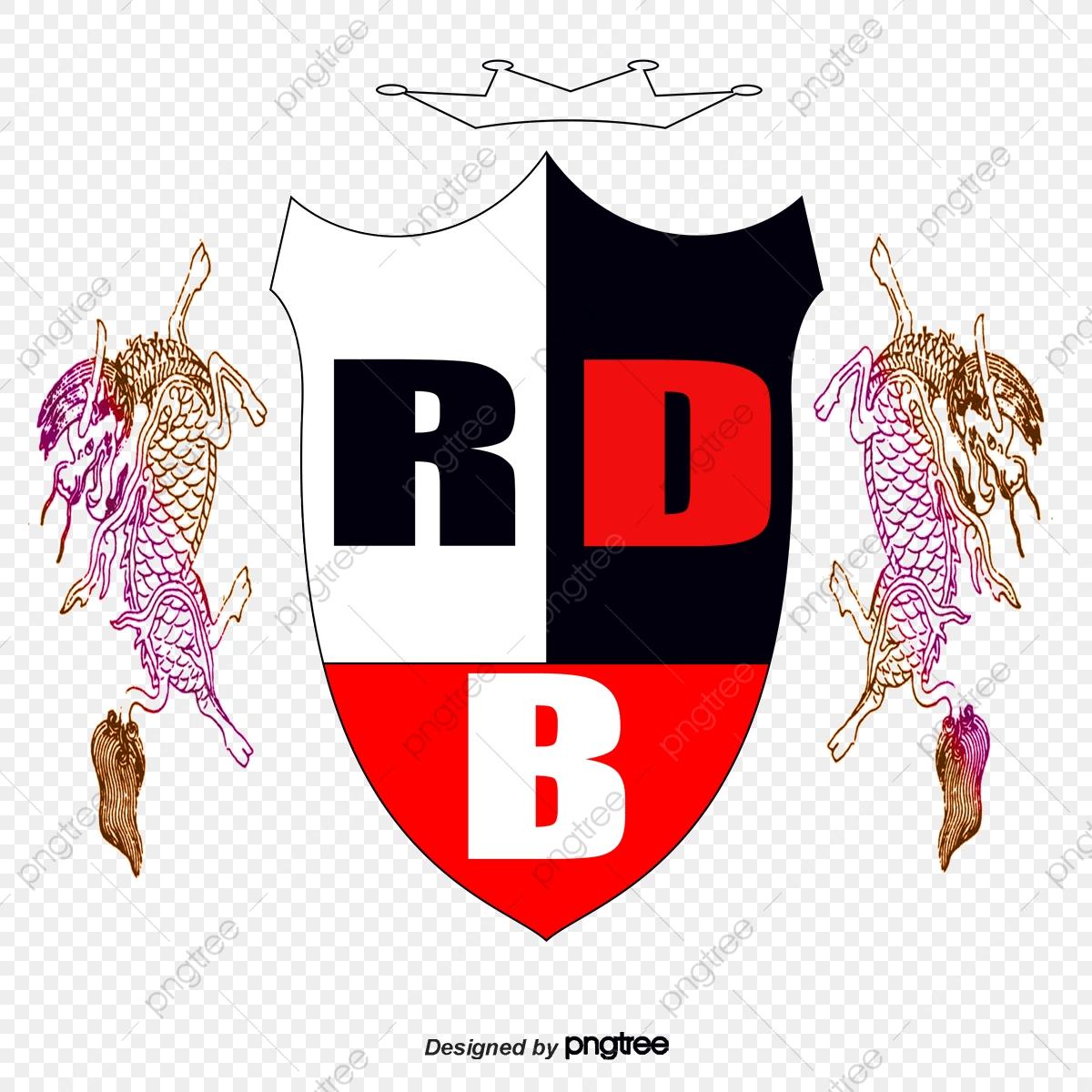 Rbd Vector Logo Design, Logo Vector, Black Animal.