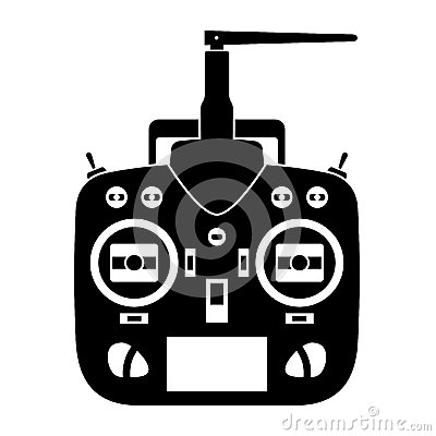 Remote Control Rc Transmitter Black Icon Stock Images.
