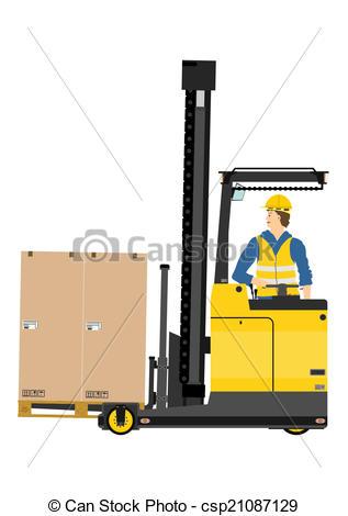 Vector Illustration of Forklift.