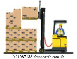 Reach truck Clip Art Illustrations. 68 reach truck clipart EPS.