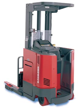 Stand up forklift clipart.