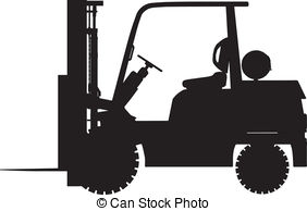 Vectors of Reach stacker load a container on a truck. Vector.