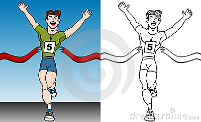 Finish line clipart animated.