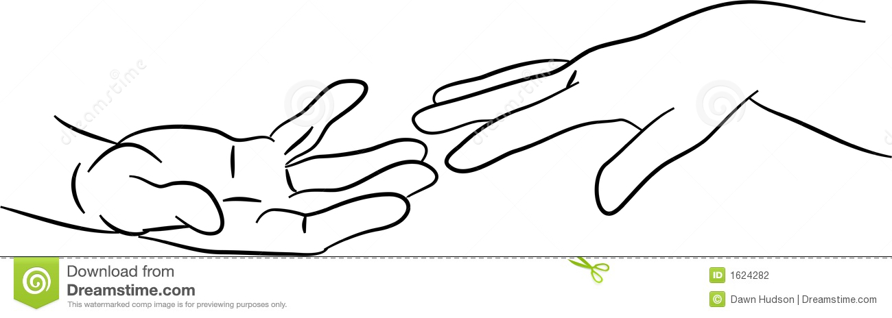 Hands Reaching Out Clipart.