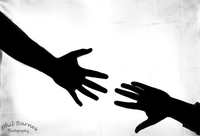 Reaching Out Clipart.