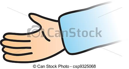 Cartoon Hands Reaching Out Clipart.