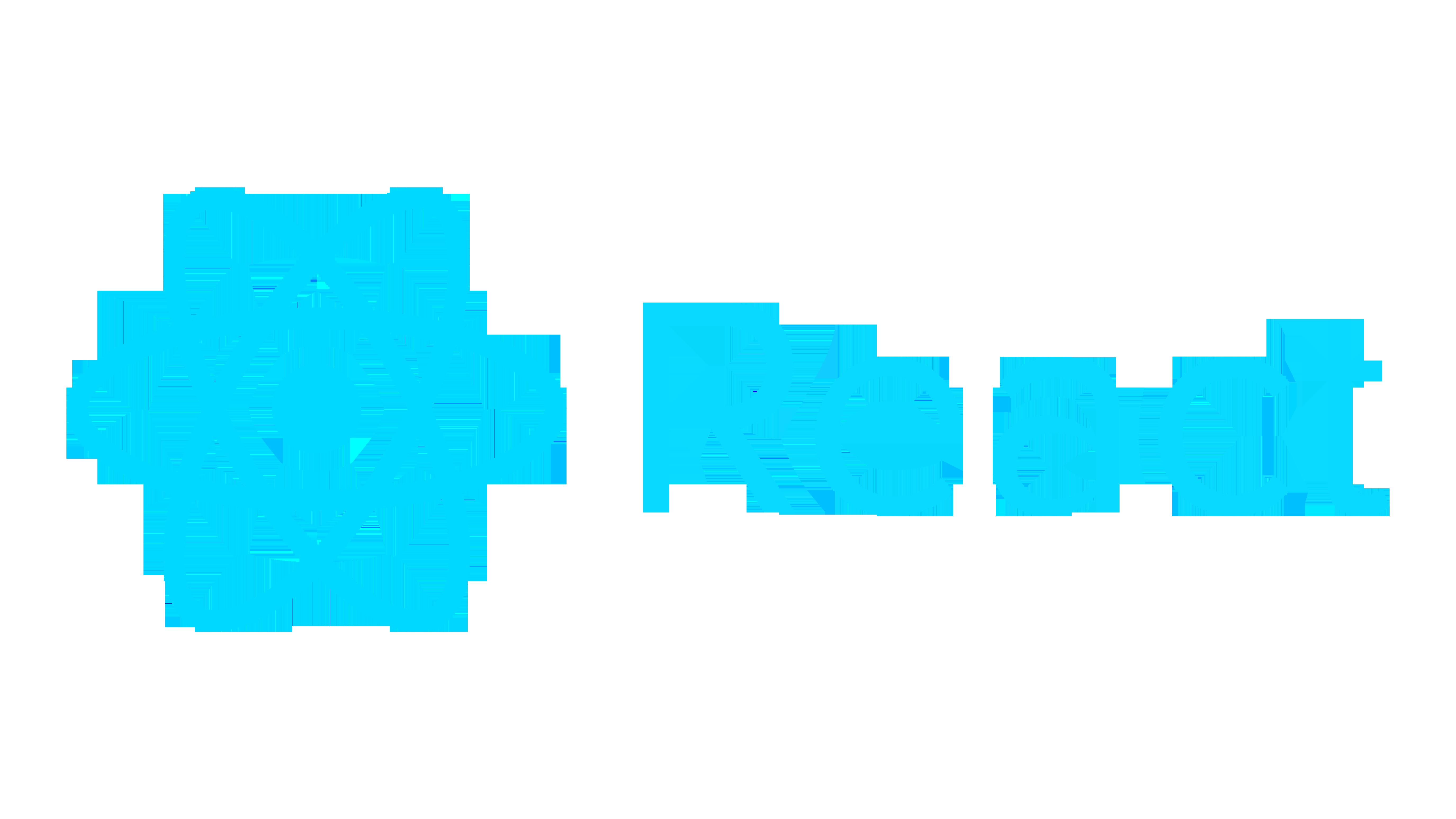 React.js logo.