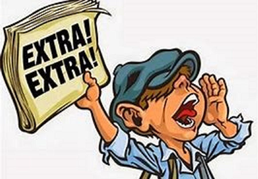 News clipart extra extra read all about it, News extra extra.