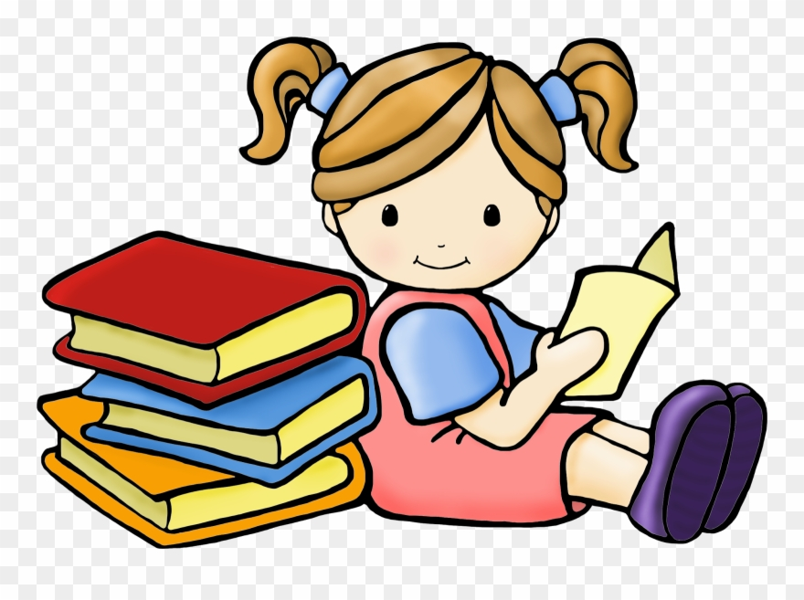 Shhh Clipart Girl Reading Book Clipart Free Download.