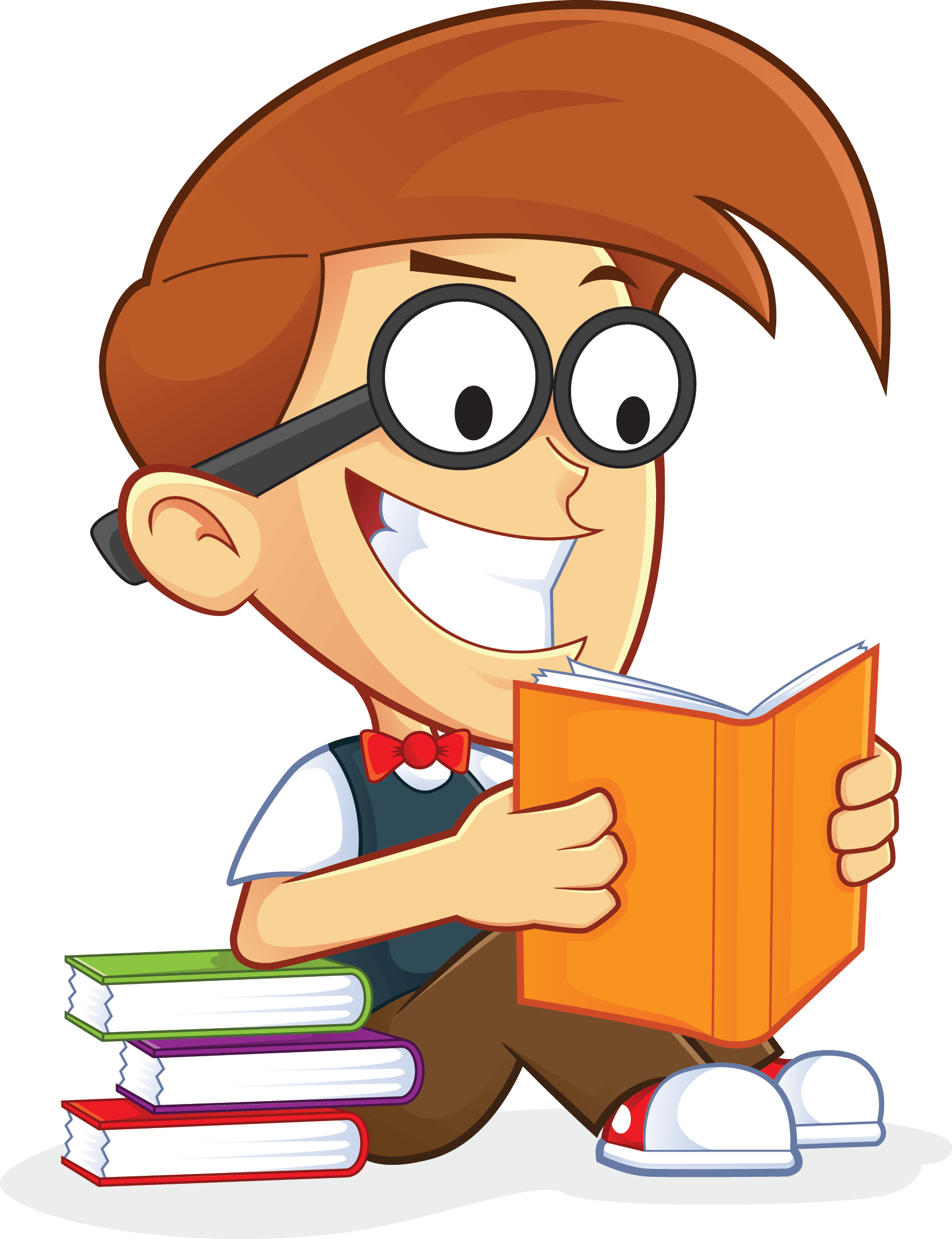 Free Nerd Geek Reading Book People High Resolution Clip Art.