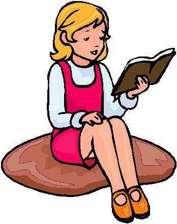 Clipart read a book.