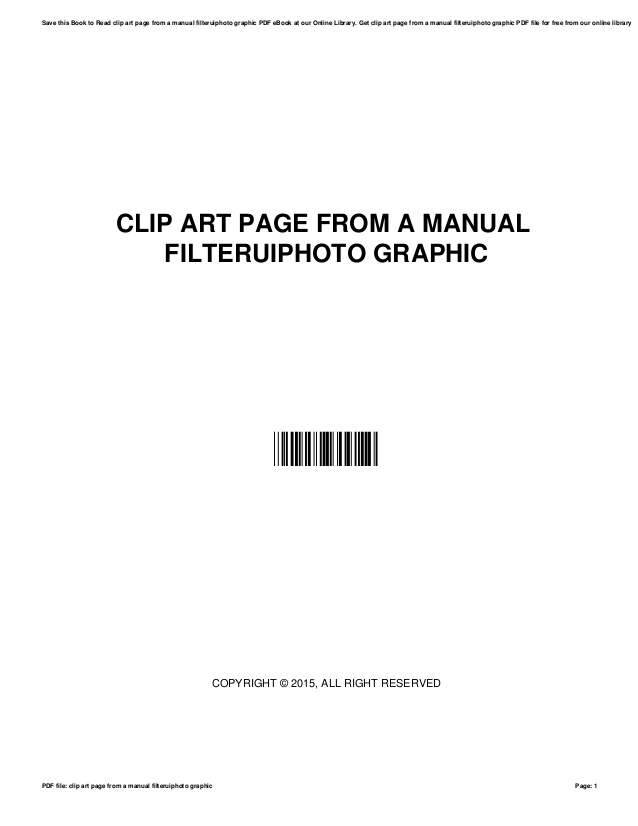 Clip art page from a manual filteruiphoto graphic.