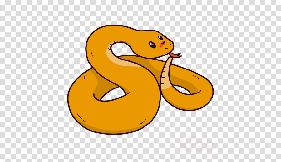 cartoon snake yellow clip art python clipart.