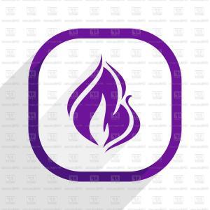 Vector Simple Illustration Read More Web Purple Button White.