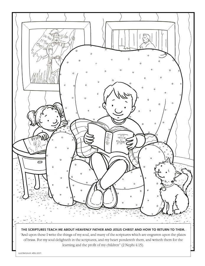 Lds beautiful coloring book star clipart.