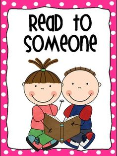 Read With Someone Clipart.