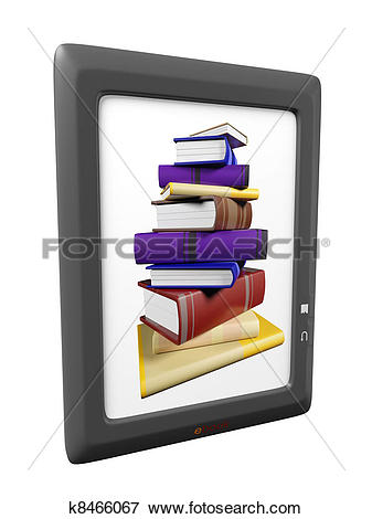 Stock Illustration of illustration of ebook reader device k8466067.