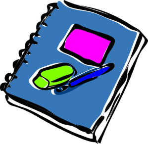 Readers Notebook Clipart.