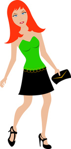 Red head girl clipart.