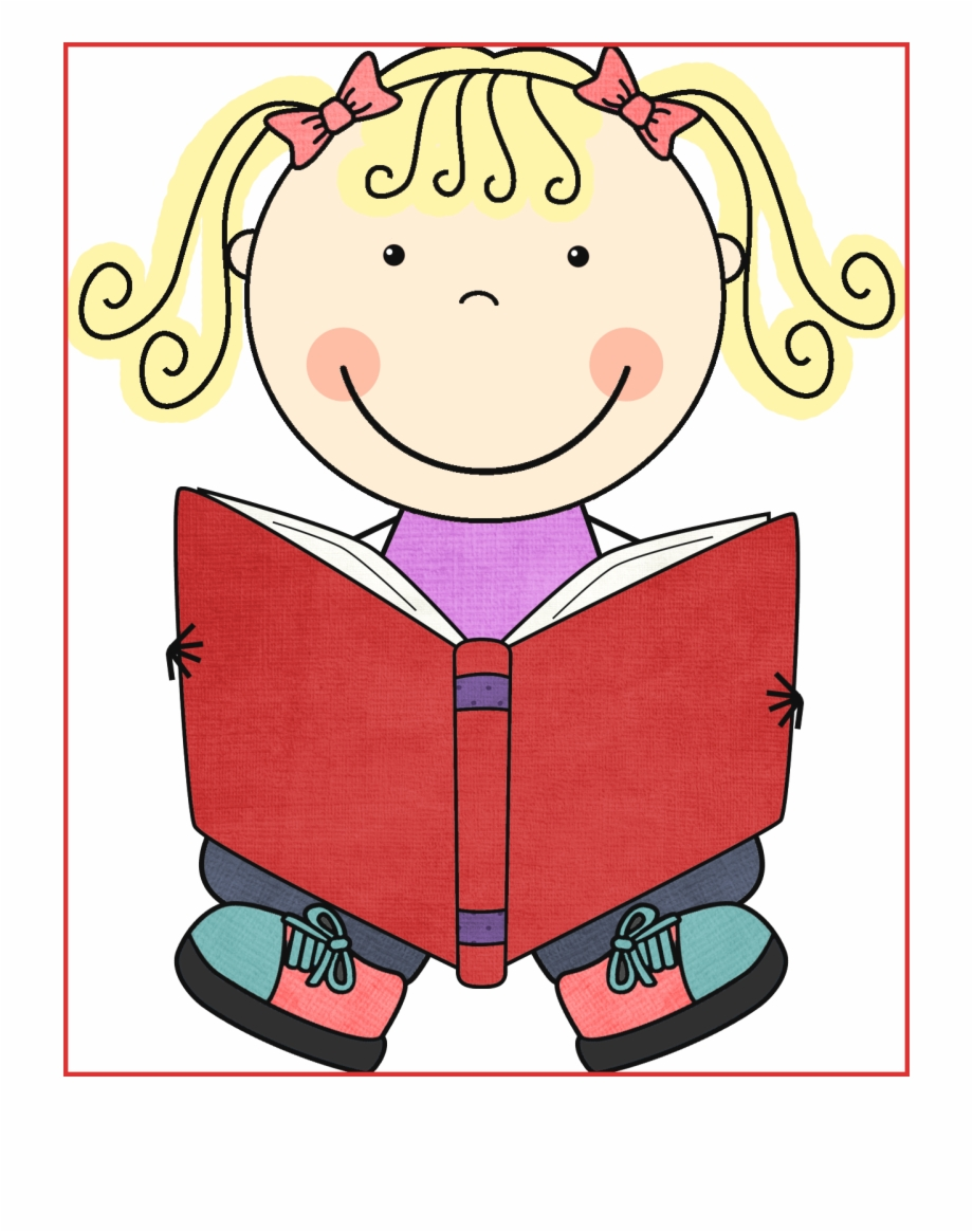 Kid Reading Reading Books Clipart.
