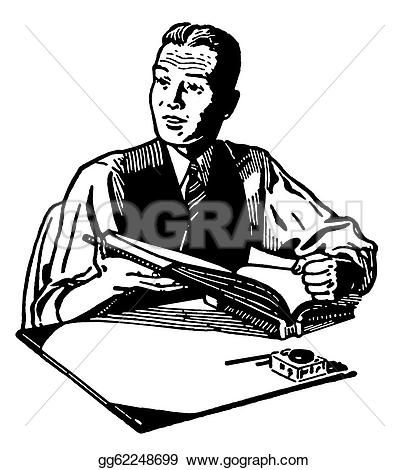 reading and writing clipart black and white #3