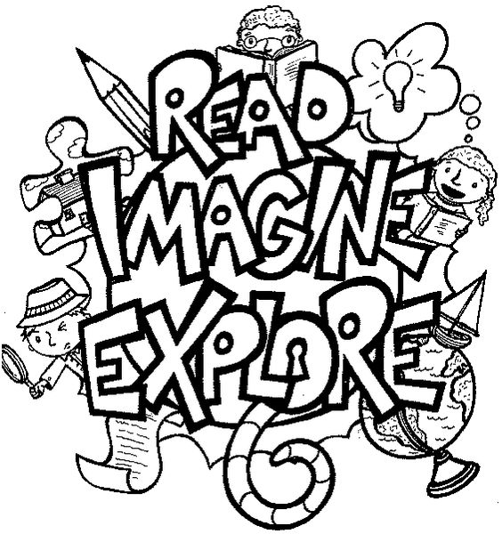 reading and writing clipart black and white - Clipground