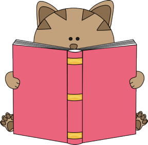 Cute Reading Animal Clipart.