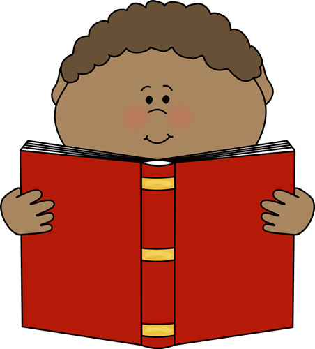 Little Boy Reading a Book.