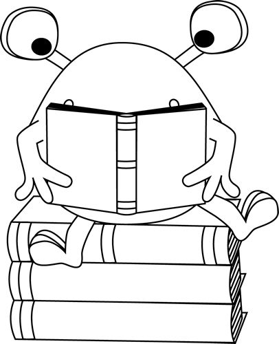 Reading Clipart Black And White & Reading Black And White Clip Art.
