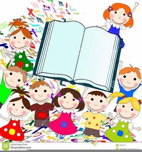 Kids Reading Books Clipart Free.