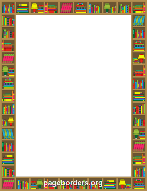 Reading Border: Clip Art, Page Border, and Vector Graphics.
