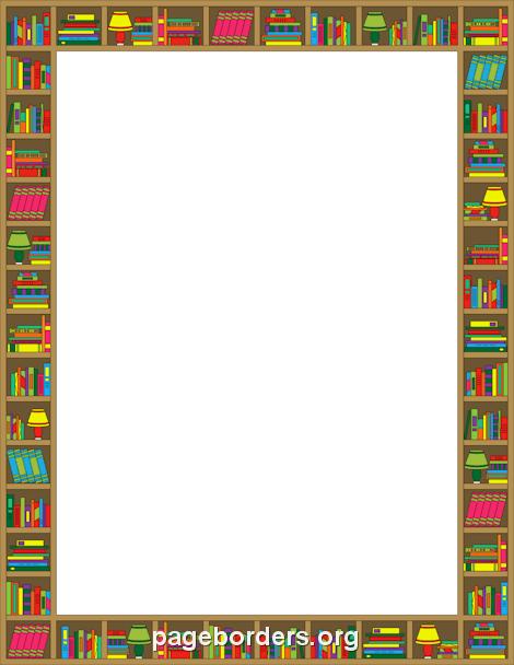 Reading border clip art