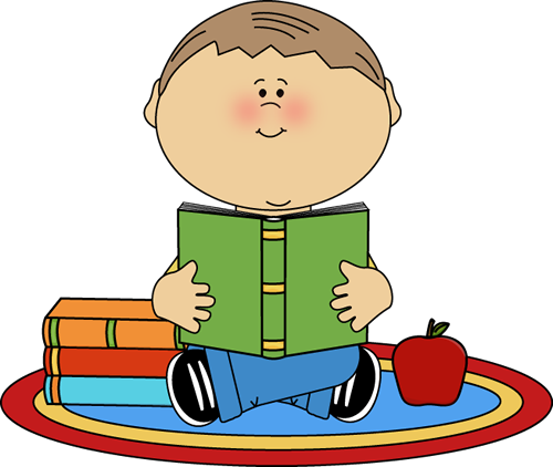 30+ Child Reading Clip Art.