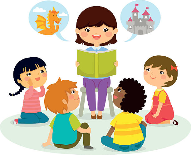 Teacher reading book clipart clipartxtras.