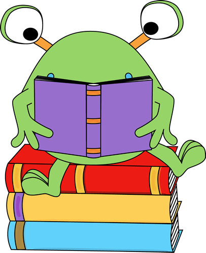 Download monster reading clipart Reading Clip art.