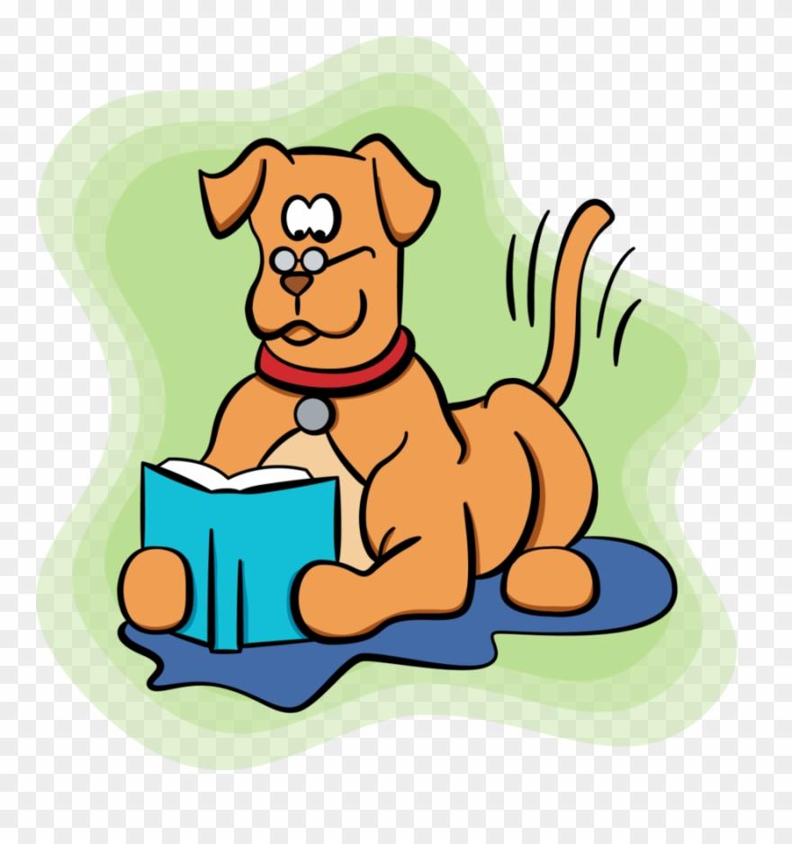Cartoon Dog Reading Clipart Dog Paw Clip Art.