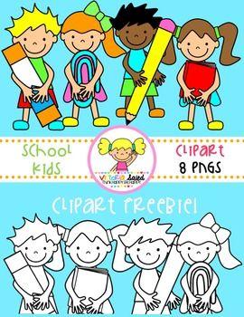 School Kids Clipart Freebie.