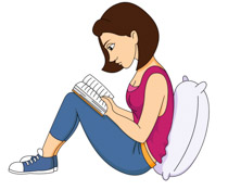 Free Girl Reading Cliparts, Download Free Clip Art, Free.