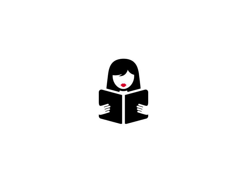 Book Reading Girl Logo by Sumesh A K on Dribbble.